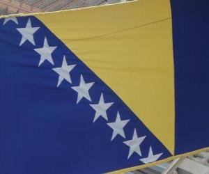 Puzzle de Bandera de Bosnia y Herzegovina