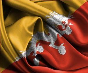 Puzzle de Bandera de Bután o Bhután