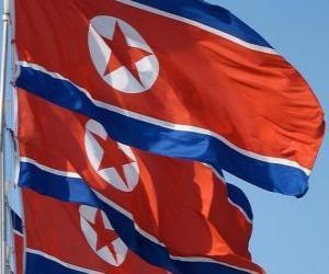 Puzzle de Bandera de Corea del Norte