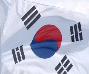 Puzzle de Bandera de Corea del Sur