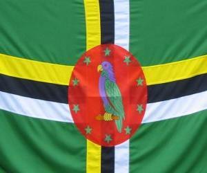 Puzzle de Bandera de Dominica