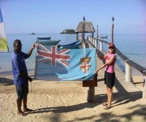 Puzzle de Bandera de Fiyi o de las Islas Fiyi