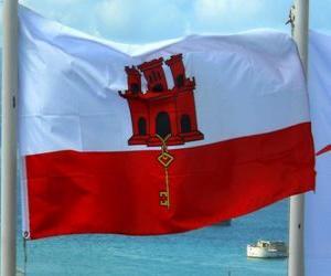 Puzzle de Bandera de Gibraltar