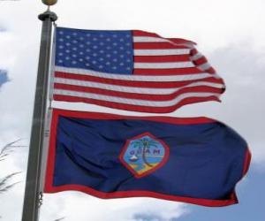 Puzzle de Bandera de Guam