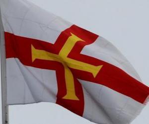 Puzzle de Bandera de Guernsey