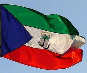 Puzzle de Bandera de Guinea Ecuatorial