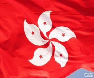 Puzzle de Bandera de Hong Kong
