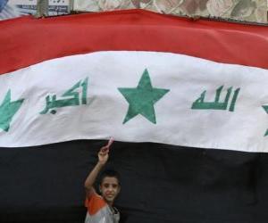 Puzzle de Bandera de Iraq o Irak