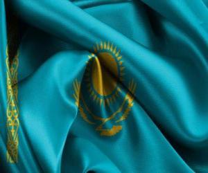 Puzzle de Bandera de Kazajistán, Kazajstán o Kazakstán