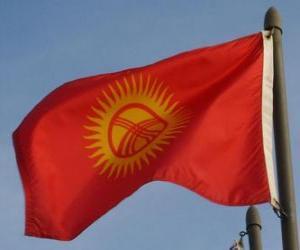 Puzzle de Bandera de Kirguistán