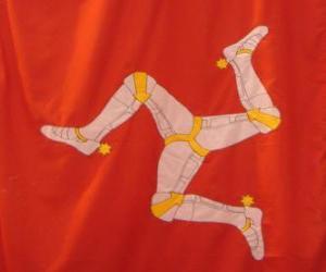Puzzle de Bandera de la Isla de Man