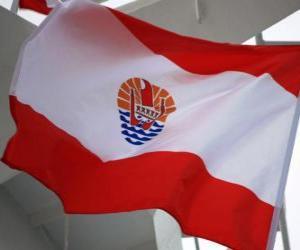 Puzzle de Bandera de la Polinesia Francesa