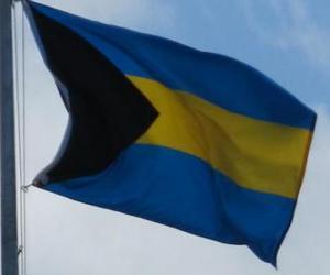 Puzzle de Bandera de las Bahamas
