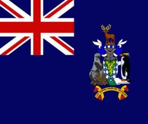 Puzzle de Bandera de las Islas Georgias del Sur y Sandwich del Sur