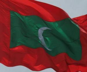 Puzzle de Bandera de las Maldivas