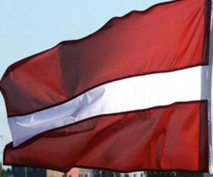 Puzzle de Bandera de Letonia