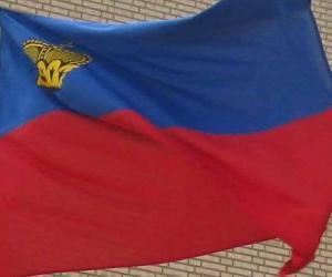 Puzzle de Bandera de Liechtenstein