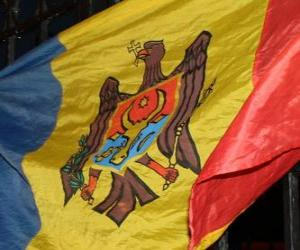 Puzzle de Bandera de Moldavia