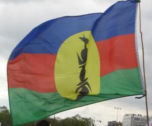 Puzzle de Bandera de Nueva Caledonia