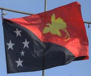 Puzzle de Bandera de Papúa Nueva Guinéa