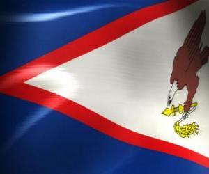 Puzzle de Bandera de Samoa Americana