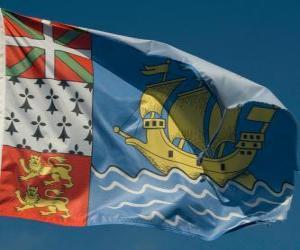 Puzzle de Bandera de San Pedro y Miquelón