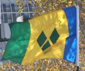 Puzzle de Bandera de San Vicente y las Granadinas