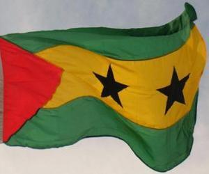 Puzzle de Bandera de Santo Tomé y Príncipe