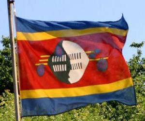 Puzzle de Bandera de Suazilandia