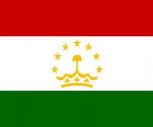 Puzzle de Bandera de Tayikistán