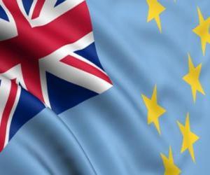 Puzzle de Bandera de Tuvalu
