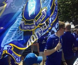 Puzzle de Bandera del Everton F.C.