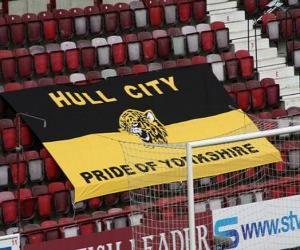 Puzzle de Bandera del Hull City A.F.C.