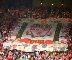 Puzzle de Bandera del Liverpool F.C.