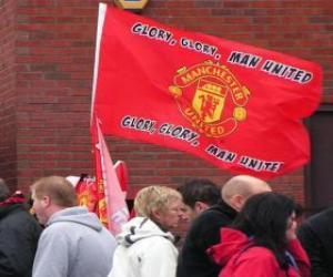Puzzle de Bandera del Manchester United F.C.