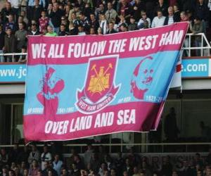 Puzzle de Bandera del West Ham United F.C.