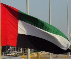Puzzle de Bandera Emiratos Árabes