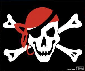 Puzzle de Bandera pirata Jolly Roger