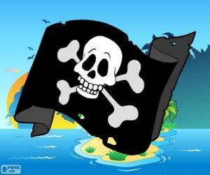 Puzzle de Bandera pirata junior