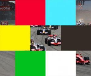 Puzzle de Banderas colores F1