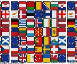 Puzzle de Banderas de europa