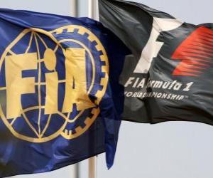 Puzzle de Banderas de la Federación Internacional de Automovilismo
