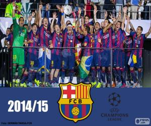 Puzzle de Barça, campeón Champions 15