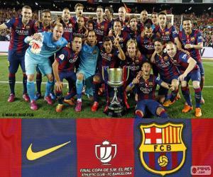 Puzzle de Barça Copa del Rey 14-15
