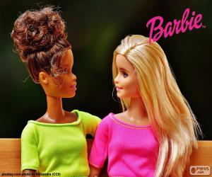 Puzzle de Barbie con una amiga