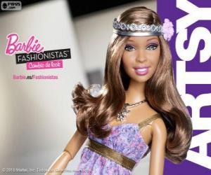 Puzzle de Barbie Fashionista Artsy