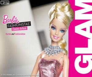 Puzzle de Barbie Fashionista Glam