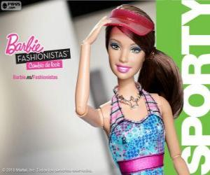 Puzzle de Barbie Fashionista Sporty