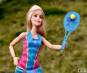 Puzzle de Barbie jugando a tenis