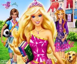 Puzzle de Barbie Princesa en la escuela